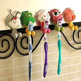 Animal Shape Plastic Hanging Toothbrush Holders(Random Color) 4599253