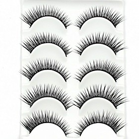 New 5 Pairs Super Natural Black Long Thick False Eyelashes Eyelash Eye Lashes for Eye Extensions 2338957