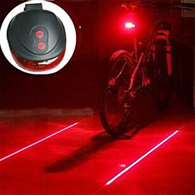Laser LED Bike Light Bike Light Lanterns  Tent Lights Rear Bike Tail Light - Mountain Bike MTB Cycling Impact Resistant LED Light Easy Carrying AAA 400 lm Batt