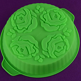 DIY Silicone Flower Cake Mold Chocolate Mold   Random Color 4547919