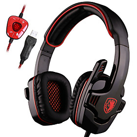 Gaming headphone Stereo 7.1 Surround Pro USB Gaming Headset with Mic Headband Headphone 4553604
