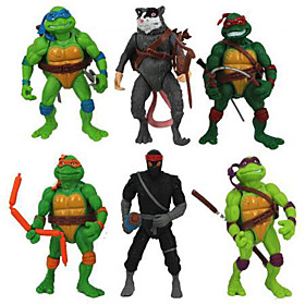 6Pcs Teenage Mutant Ninja Turtles Action Figures Classic Collection Toy Set Boy Hight 4639177