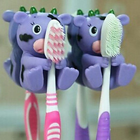 Cute Cartoon Suction Cup Toothbrush Holder Hooks Bathroom Eco-Friendly Household 2395280
