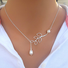 Women's Pearl Lariat Strands Necklace / Pearl Necklace - Pearl, Imitation Pearl Drop Fashion Necklace Jewelry For Wedding, Party, Daily