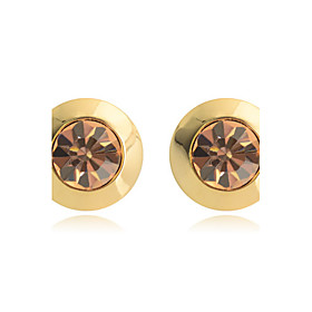 Women's Crystal Stud Earrings Crystal Gold Plated Earrings Jewelry White / Champagne For Party Daily Casual