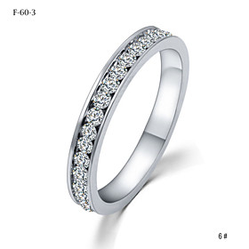 Women's Crystal Couple Rings - Crystal Princess Classic, Simple Style, Fashion 4 For Wedding Party Party / Evening / Daily