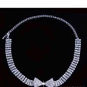 Tassel Jewelry Set - Cubic Zirconia Bowknot Party, Fashion Include White For Party Special Occasion Anniversary / Earrings / Necklace