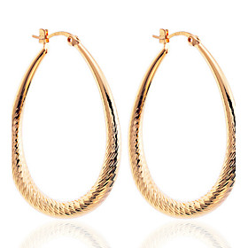 Women's Drop Earrings Hoop Earrings Silver Plated Gold Plated Earrings Drop Ladies Jewelry Silver / Golden For Party Daily Casual