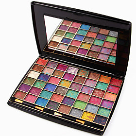48 Mixed Colors Matte Shimmer Eyeshadow Palette Naked Nude Eye Shadow Brush Glitter Makeup Set 4611276