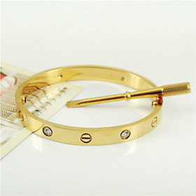New Style 316L Stainless Steel Screw Bangle with Screwdriver Screws Never Lose Jewelry Christmas Gifts 5155049