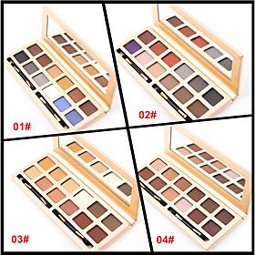 12 Colors Matte Eyeshadow Palette Naked Nude Eye Shadow Brush Matt Makeup Set(Assorted Color) 4611273