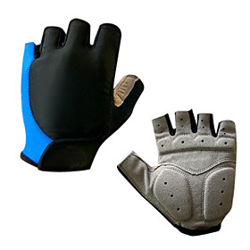 Cycling Gloves Fingerless Breathable Silicone Gel Cushioning Half Finger Gloves 1213346