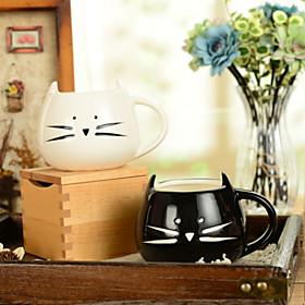 "300ml Ceramic Innovative Cat Pattern Cup,5.1""""x4.3""""x3.7"""""" 1618461"