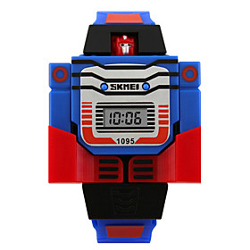 Wrist Watch Digital Silicone Blue / Red / Grey Calendar / date / day Digital Ladies Charm Fashion - Yellow Red Blue Two Years Battery Life / Maxell6262025