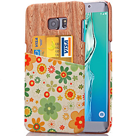 For Samsung Galaxy Note Card Holder Case Back Cover Case Flower PU Leather Samsung Note 5 / Note 4 / Note 3 4744308