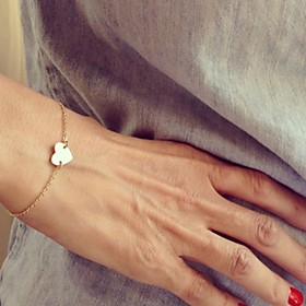 Women's Charm Bracelet - Heart, Love Simple Style, Fashion Bracelet Silver / Golden For Christmas Gifts Party Daily