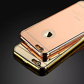 The New Luxury Stainless Steel Buckle Metal Frame Backplane Phone Case for iPhone 5/5S (Assorted Colors) 4682614