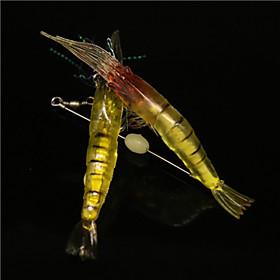 3Pcs/Bag 10cm/6g Luminous Pearl Soft Big Shrimp Bait Shrimp Soft Lures Wholesale 4824323