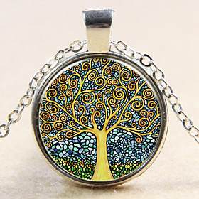 Women's Pendant Sterling Silver life Tree Ladies Fashion Silver Bronze Necklace Jewelry For Wedding Party Daily Casual