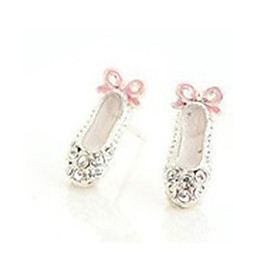 Women's Crystal Stud Earrings Crystal Rhinestone Earrings Bowknot Ladies Cute Jewelry White For Party Daily Casual