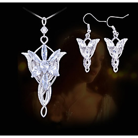 European and American Fashion Lord of the Rings Wizard Princess Evening Star Necklace Earring Sets 4735463