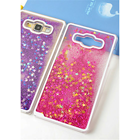 Fun Glitter Star Liquid Back Quicksand Transparent Clear PC Hard Cover For Samsung Galaxy J5 4724103