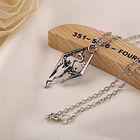 Movie Acc Skyrim Dragon Pendant Necklace 4677657