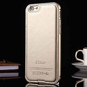 novo luxo caixa de couro genuíno para o metal integrada caso moldura para Apple iPhone 5 / 5s (cores sortidas) 4668261