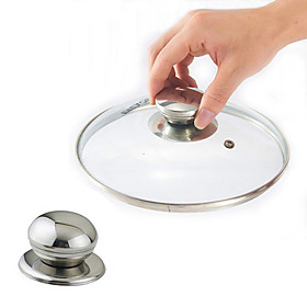 Stainless Steel Cookware Pot Pan Lid Replacement Screw Handle Circular Cover Knob