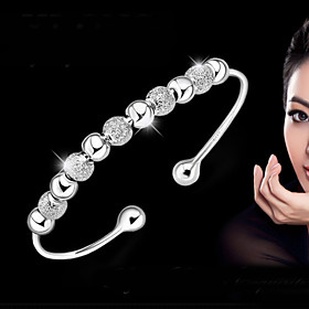 Women's Bracelet Bangles Bracelet - Sterling Silver Basic, Fashion Bracelet Silver For Wedding Party Daily