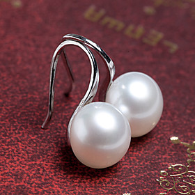 Women's Pearl Stud Earrings Earrings Ladies Jewelry Silver / Golden For Wedding Party Daily Casual Masquerade Engagement Party