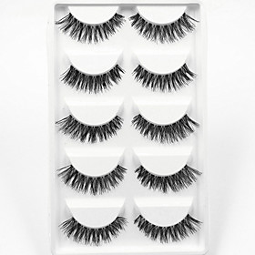 5 Pairs Thick Black False Eyelashes Clear Strip Lash Mink Lashes Part Event High Quality Wedding Makeup 4744768