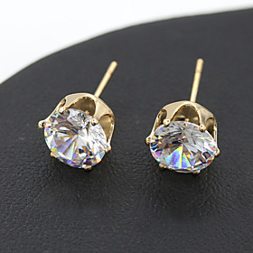 Women's Crystal Stud Earrings - Crystal Silver / Golden For Wedding Party Daily