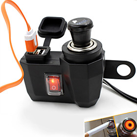 Motorcycle Assembly Phone USB Charger Car Cigarette Lighter 12V Cigarette Lighter To Carry Water Scooters Function 4766753