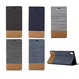 Case For Sony Xperia Z5 / Sony Xperia Z3 / Sony Xperia Z3 Compact Xperia Z5 / Xperia Z3 / Sony Case Card Holder / with Stand / Flip Full Body Cases Solid Color