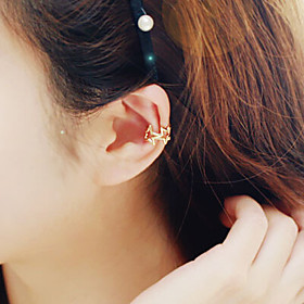 Women's Clip on Earring Earrings Star Jewelry Silver / Golden / Gold / Pink For Wedding Party Daily Casual