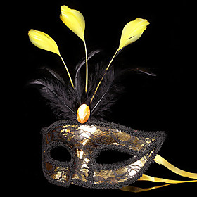 Mask / Masquerade Angel/Devil Festival/Holiday Halloween Costumes Red / Golden / Silver Patchwork Mask Halloween / Carnival UnisexShiny 4765292