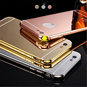 New Luxury Plated Aluminum Metal FrameMirror Acrylic Back Cover Shell Case for IPhone6plus 5.5inch 3882378