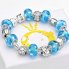 Women Gift Strand Beads Bracelets Beads Glass Beads Charm Bracelets  Bangles 925 Silver European beads BLH001 4788636