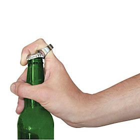Ring Shape  Portable Stainless Steel Beer Beverage Bottle Opener 4743933