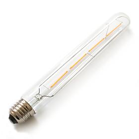 Image of 1 pcs Kakanuo E26/E27 4W Filament COB 360lm Warm White 2200K Tube T30 2016 LED Filament Bulbs AC 85-265V
