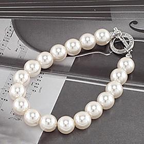 Women's Strand Bracelet - Pearl, Imitation Pearl Unique Design, Fashion Bracelet White For Party Daily Casual