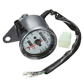 Iztoss Motorcycle Dual Odometer Speedometer Gauge LED Backlight Signal Light 4759102