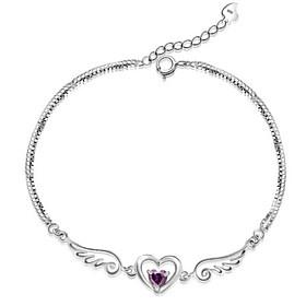 Women's Chain Bracelet Charm Bracelet - Sterling Silver Angel Wings Bracelet White / Purple For Christmas Gifts Wedding Party