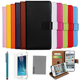 COCO FUN Case For Apple iPhone X / iPhone 8 / iPhone 8 Plus Wallet / Card Holder / with Stand Full Body Cases Solid Colored Hard Genuine Leather for iPhone X /