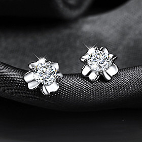 Men's Women's Crystal Stud Earrings Crystal Gold Plated Earrings Clover Ladies Jewelry Silver For Wedding Party Daily Casual Masquerade Engagement Party