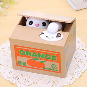 Orange Cat Electric Coin BankMoney Saving Box/Toy(2xAA) 4755357