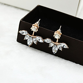 Women's Crystal Stud Earrings - Crystal Flower Silver / Golden For Wedding Party Daily