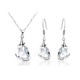 Women's Crystal Jewelry Set - Crystal Unique Design, Simple Style, Elegant Include Drop Earrings Pendant Necklace For Wedding Party Birthday