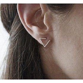 Women's Stud Earrings - Simple Style, Fashion Black / Silver / Golden For Party Daily Casual / 2pcs